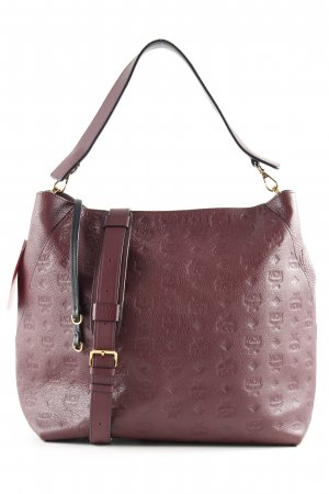 "MCM Hobotas ""Klara Monogrammed Leather Hobo Large Rustic Brown"" bordeaux"