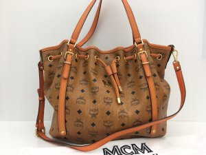 MCM Shoulder Bag cognac-coloured leather