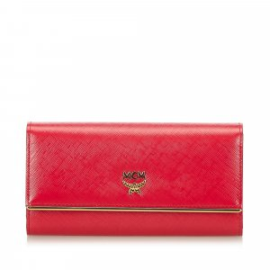 MCM Portefeuille rose cuir