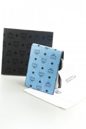 MCM Kartenetui schwarz-neonblau schlichter Stil