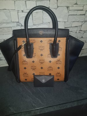 MCM Kathy visetos tote medium Cognac black