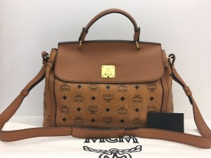 MCM Carry Bag cognac-coloured-black leather