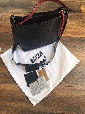 MCM Bolso barrel negro Cuero