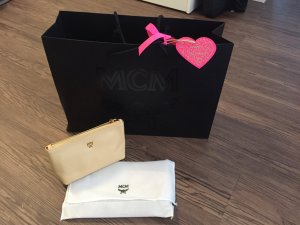 MCM Mini Bag sand brown-gold-colored leather