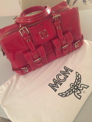 MCM Lackleder Bowlingbag Rot