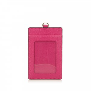 MCM Card Case pink leather