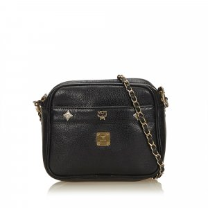 MCM Crossbody bag black leather