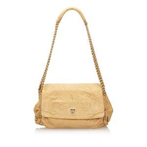 MCM Shoulder Bag beige leather