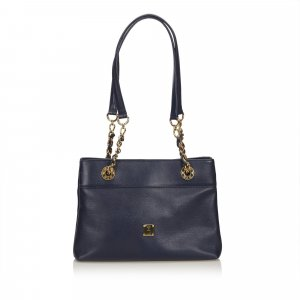 MCM Leather Chain Shoulder Bag