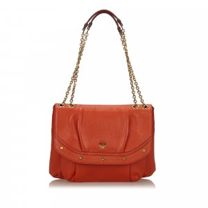 MCM Shoulder Bag orange leather