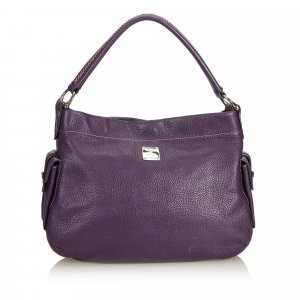 MCM Hobos purple leather