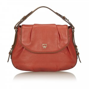 MCM Satchel orange leather