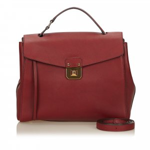 MCM Satchel bordeaux leather