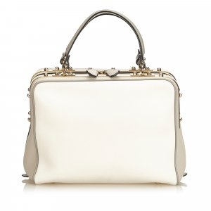 MCM Satchel white leather