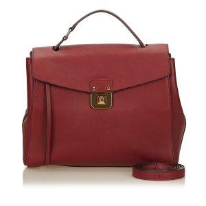 MCM Satchel bordeaux leather