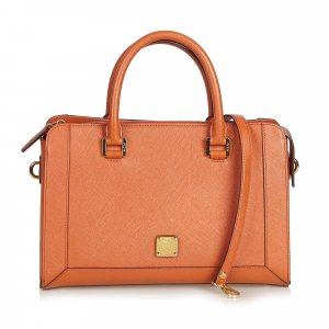 MCM Leather Satchel
