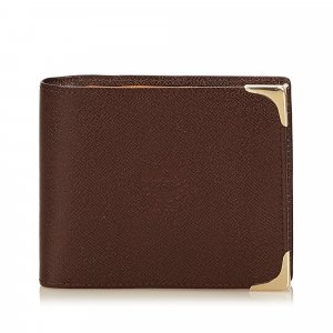 MCM Wallet dark brown leather