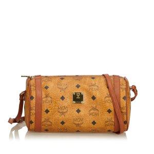 MCM Leather Visetos Crossbody Bag