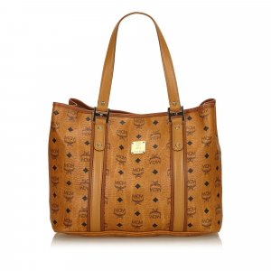 MCM Leather Visetos Tote Bag
