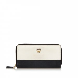 MCM Wallet white leather