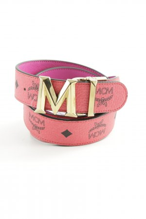 MCM Faux Leather Belt pink-violet street-fashion look