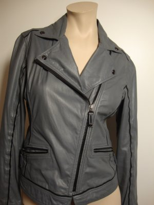 MCM Leather Jacket grey-black
