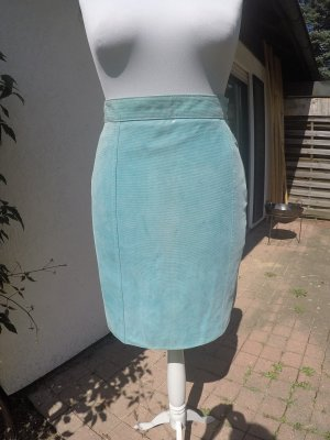 MCM Leather Skirt light blue leather