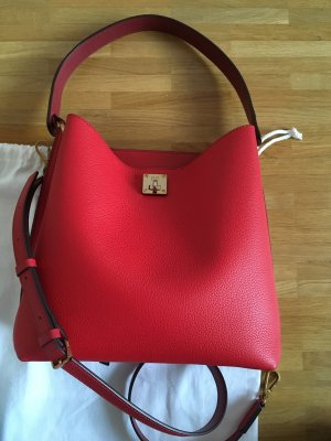 MCM Carry Bag brick red-carmine