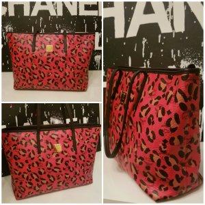 MCM Leopard Shopper 100% Original