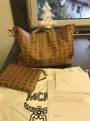 MCM Carry Bag cognac-coloured