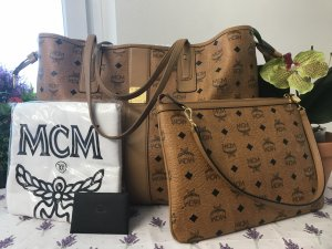 MCM Shopper bronze-colored-black leather