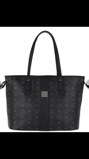 Mcm liz Visetos shopper Medium Black