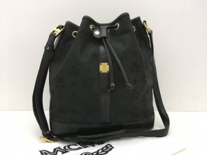 MCM Pouch Bag black-gold-colored