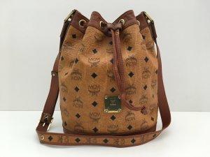 MCM Pouch Bag cognac-coloured-black leather