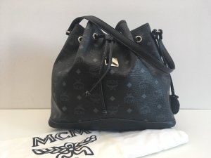 MCM Pouch Bag black-silver-colored leather