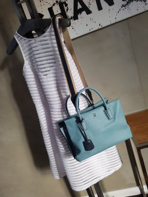 MCM Milla Medium Sky Blue 100% Original
