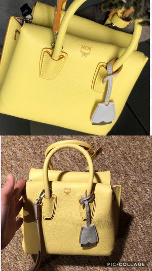 MCM Mini sac jaune clair