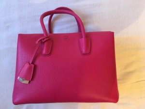 MCM Handbag raspberry-red-magenta leather