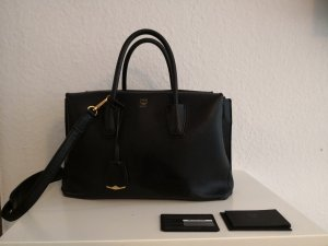 MCM Milla Tote Medium Tasche black gold schwarz