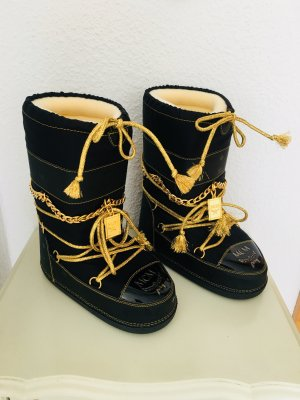 MCM Boots black-gold-colored