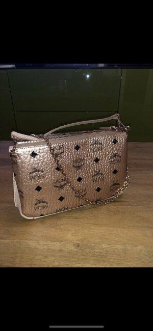 MCM Neu Millie Crossbody-Bag mit Reissverschluß oben in Visetos