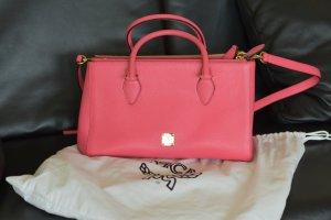MCM Bolso de compra rosa Cuero