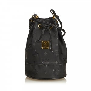 MCM Nylon Visetos Bucket Bag