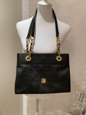 MCM  Orginal Shoulder Bag schwarz Golld