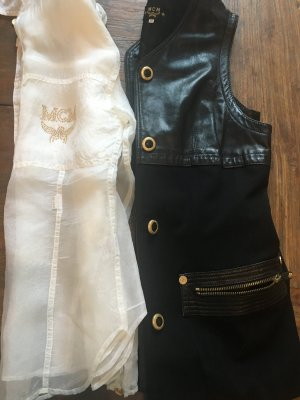 MCM Leather Vest black-white leather