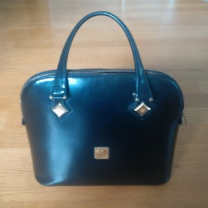 MCM Carry Bag black leather