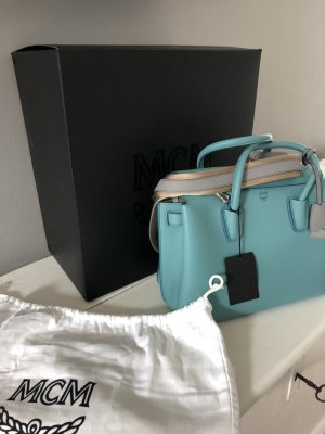 MCM Original Tasche Milla Tote Blau -Neu