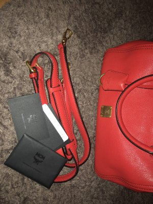MCM Handbag red-gold-colored leather