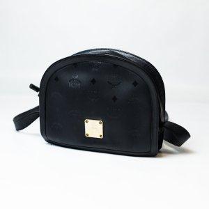 MCM Sac porté épaule noir-doré chlorofibre