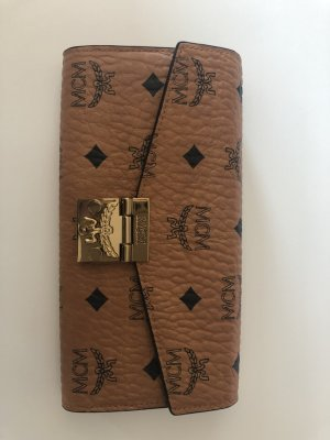 MCM Wallet bronze-colored leather